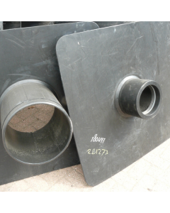 Hdpe deelbaar kwelscherm 1000x1000x10mm spie d160mm (110-125