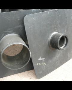 Hdpe deelbaar kwelscherm 1250x1250x10mm spie d200mm (160-180