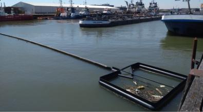 Plasticvangsysteem de Shoreliner in Rotterdam